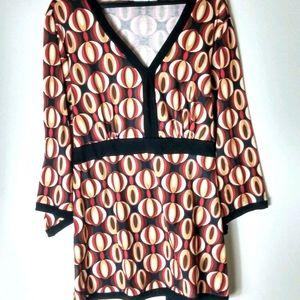 Cato Black Red Kimono Style Top 22 24W Plus